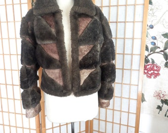 Vintage 70s Sheepskin Shearling Leather Jacket by Ardney Collection Rare