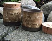 Salt pig, Stoneware Ceramic Pottery