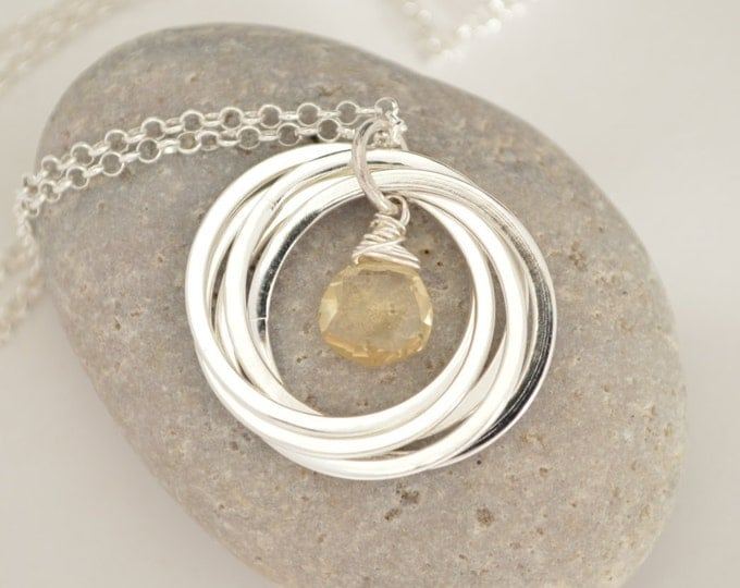 50th Birthday gift for mom,50th Birthday for her,5th Anniversary Gifts,Citrine necklace,November birthstone necklace, Gift for mother in law