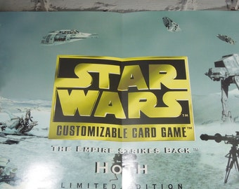 Star Wars. The Empire Strikes Back. Card Game Promo Poster.  Measures 10.5 x 33 inches. Star Wars Collectible Poster. Wall Art. Cool Geeks.