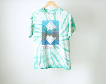 vintage MUSIC festival MONTANA billings vintage 90s tie dye faded t-shirt top