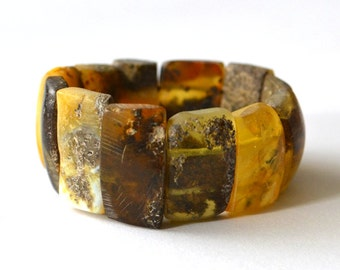 Natural Untreated Baltic Amber Bracelet, Pure Amber Bracelet, Natural Beauty, Amber Jewelry