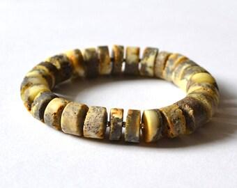 Amber Bracelet, Amber Jewelry, Baltic Amber Gift, Amber Beaded Bracelet, Modern Jewelry