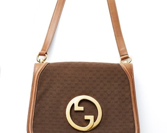 REDUCED was 850 now 700 most wanted vintage 1970s GUCCI Blondie canvas monogram leather handbag purse