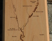 BROWN CREEK River Map Wal...