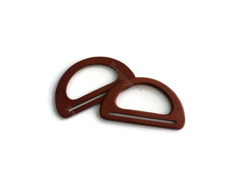 1 pair of wood bag handles  7 inche X 4 inch brown (17.5 x 10cm ) 106-12 - WH29
