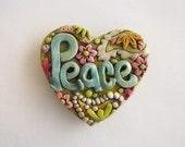 Peace Magnet, Antiqued Rustic Paisley Magnet