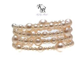 Bridal Cuff Bracelet, Bridal Jewelry, Wedding Jewelry, Pearl Cuff Bracelet, Bridal Bracelet, Bridesmaid Bracelet, Bridesmaid Jewelry, Prom