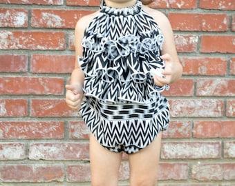 Baby Romper PDF Sewing Pattern, Girls Sewing Pattern, Baby Romper, Baby Romper Pattern, Kids Sewing Patterns, PDF Sewing Pattern, Upcycle