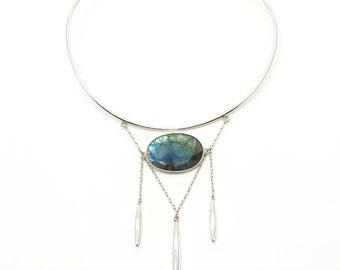 PALLAS - Labradorite, Spectrolite, Labradorite Necklace, Spectrolite Necklace, Labradorite Jewelry, Labradorite Jewellery, Spectrolites