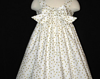 Girls dress sundress Easter dress size 4 ready to ship MADE in the USA