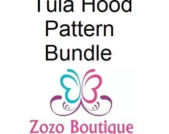 Tula Hoodie Hood and Flat Hood Pattern and Tutorial Bundle