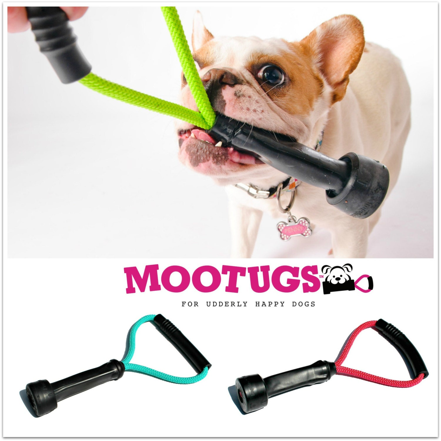 Upcycled Rubber Tug of War Dog Toy Cow Milking Tube Dog Toys