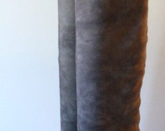 Vintage Made in Italy Suede & Leather Tall Boots Size 36.5 EU