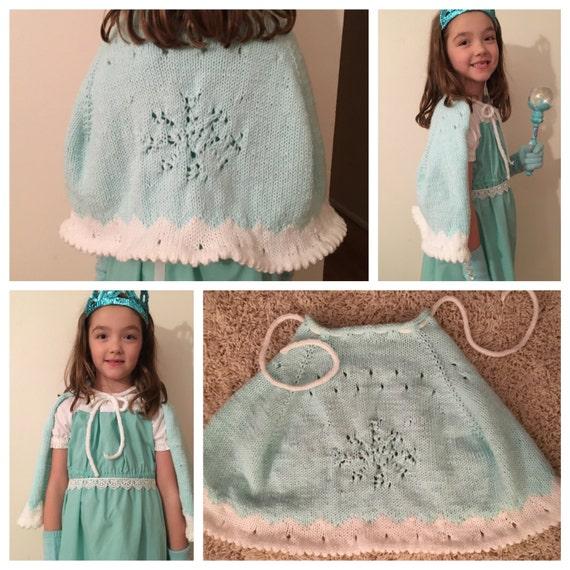 Knitting Patterns For Elsa : Frozen Elsa snowflake Cape Knitting Pattern PDF