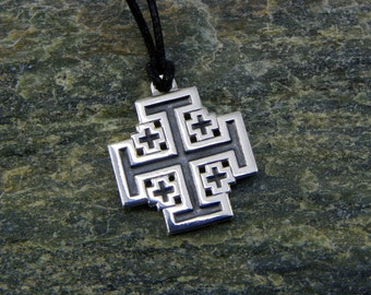 Jerusalem Cross Templar - Pendant in 925 sterling silver