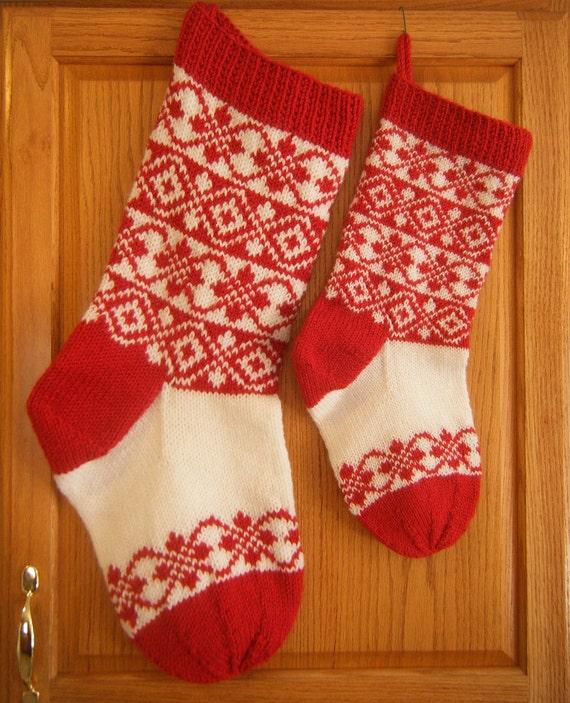 Knitting Pattern Christmas Stocking Norwegian Stranded Design