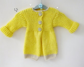 Girls Clothing//Girl Cardigan//Knitting Baby Jacket/9-12 Months/Hand Knit Baby Cardigan/Knit Baby Child Cardigan Vintage /Winter Outfit