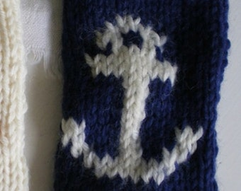 Knitted Anchor Phone cosy pattern PDF