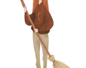 Ginny Weasley 6x4 postcard print