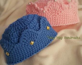 Crown Me Hats Beanies Caps Photo Prop Newborn Infant Baby Toddler Child Teen Adult Hats