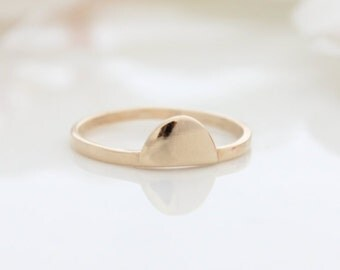 Moon Gold Ring | Stacking ring | Delicate gold ring | Gifts for her