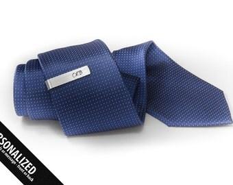 Tie Clip Initials - Slim tie clip - Monogram Tie Clip personalized