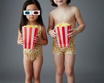 POPCORN: Girl's Tank Swimsuit