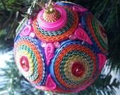 Pink handmade Christmas ornament