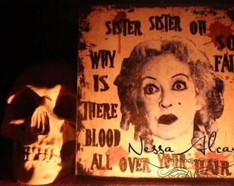 Bette Davis Stampa su legno 20 x 20 cm