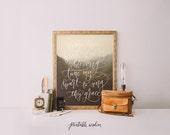 Come Thou Fount, Printable Wisdom art, printable art print wall art, Bible verse art printable scripture print hand lettered art calligraphy