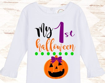My First Halloween - Girls Halloween Outfit - Halloween Shirt - Baby Halloween Outfit - Halloween Baby Bodysuit - Girls Halloween Shirts