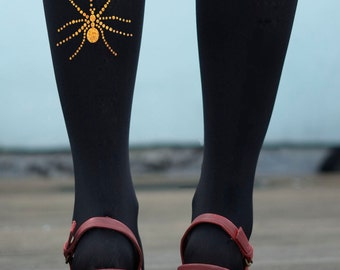 Sparkle Spider Tights in Gold, Silver or Pink