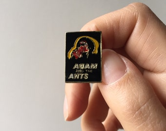 Vintage Enamel Adam and the Ants Lapel Pin