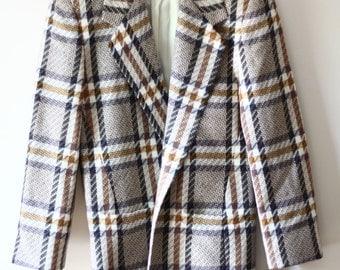 SALE // 1980s Alfred Sung blazer // 1980s plaid blazer // vintage blazer
