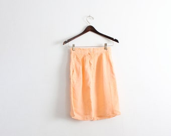 Soft Peach Pencil Skirt