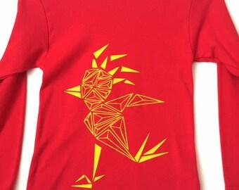 Kids shirt, hipster kids clothing, bird t-shirt, unisex clothing, geometric art