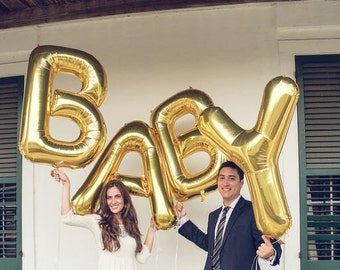 "Baby 40"" Foil Number Balloons for Baby Showers and Christenings"