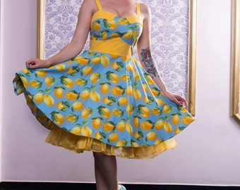 Lemon Retro Dress