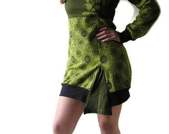 Cotton Fleece Dress  -  Winter - Mini Dress