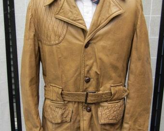 Norfolk Shooting Jacket, Goatskin Leather, Car Coat,