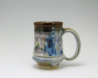 Set of 4- 16oz Mugs Calico Glaze