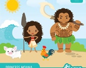The Polynesian Princess Moana - Instant Download - PNG Files.