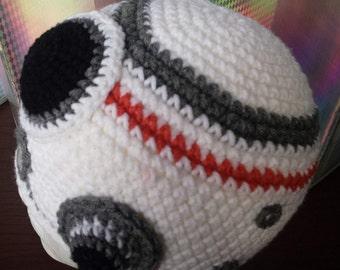Crochet Star Wars Inspired- BB-8 Beanie hat - Kids hat- Adult hat -Robot hat -Boys hat-  Droid Hat - Toddler hat - Accessories- Gifts- White