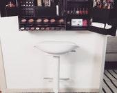 Wall Mounted Makeup Organizer Vanity