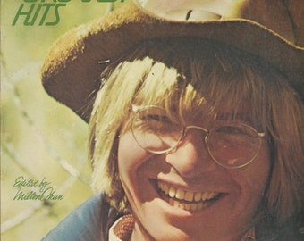 1977 SONGBOOK - JOHN DENVER'S Greatest Hits - Rocky Mountain High, Sunshine on my Shoulders, Follow me, Leaving on a Jet Plane, For Babie