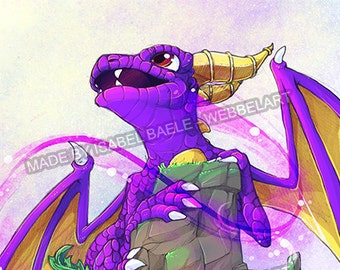 Spyro and Skylanders A3 Print