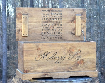 23x13x13 Large Kids Toy Chest - Wooden Chest - Keepsake Box - Memory Box - Baby and Kids Memory Chest - LARGE Wooden Chest - Toy Box