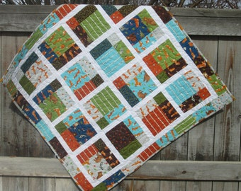 Baby Quilt | Boy Quilt | Forest Animal Quilt |  Wall Quilt | Baby Blanket | Handmade Quilt | Crib Quilt | Toddler Bed Quilt | Heirloom Quilt