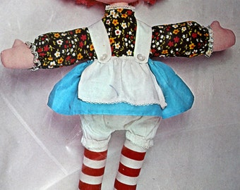 Mary Ann Stuffed Toy Doll Making Kit Bucilla Creative Needlecraft Character Doll Craft Raggedy Ann Type Doll Vintage 1970's